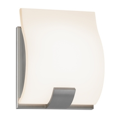 Sonneman Lighting Aquo Satin Nickel LED Sconce
