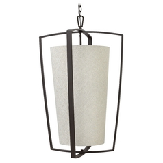 Hinkley Lighting Blakely Buckeye Bronze Pendant Light with Cylindrical Shade