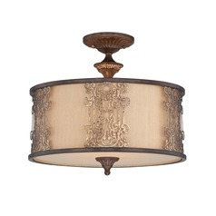 Savoy House Fiesta Bronze W/gold Highlights Semi-Flushmount Light