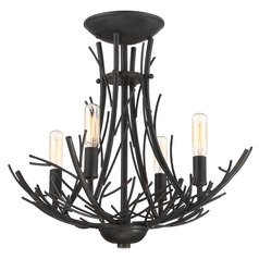 Quoizel Lighting Thornhill Marcado Black Semi-Flushmount Light