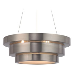 Elk Lighting Layers Brushed Stainless Pendant Light