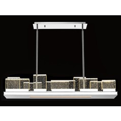 Avenue Lighting Polished Nickel LED Pendant Light with Rectangle Shade