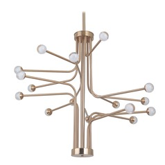 Mid-Century Modern LED Chandelier Brass Solis by Craftmade Lighting