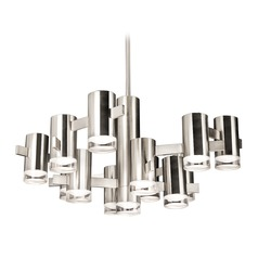 Modern Polished Nickel LED Chandelier 3000K 3250LM
