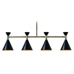 Mid-Century Modern Island Light Black Arne by Kenroy Home