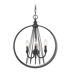 Quinn 3 Light Pendant in Black