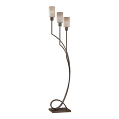 Lite Source Lighting Saeran Bronze Floor Lamp with Cylindrical Shade