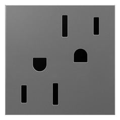 Wall Outlet in Magnesium Finish - Tamper Resistant