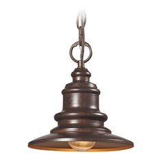 LED Outdoor Hanging Light in Hazelnut Bronze Finish