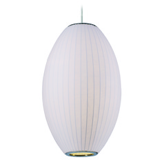 Maxim Lighting Cocoon Polished Chrome Pendant Light with Oblong Shade