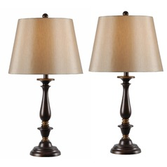 Kenroy Home Gavin Golden Flecked Bronze with Gold Highlights Table Lamp Set