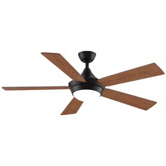 Fanimation Fans Celano V2 Dark Bronze LED Ceiling Fan with Light