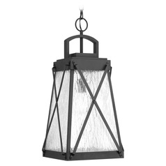 Progress Lighting Creighton Black Outdoor Hanging Light