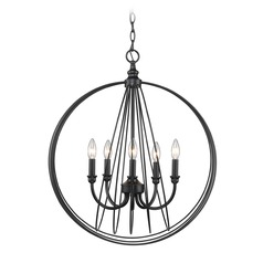 Quinn 5 Light Pendant in Black