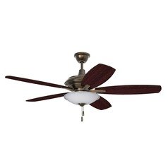 52-Inch Legacy Brass Ceiling Fan with LED Light 3000K 1350LM