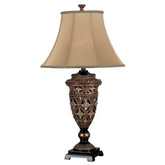 Table Lamp with Gold Shade in Golden Bronze Finish