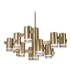 Modern Vintage Brass LED Chandelier 3000K 3250LM