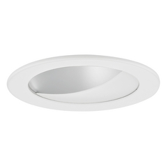 GU10 Satin Wall Washer LED Trim for 4-Inch Line and Low Voltage Recessed Cans