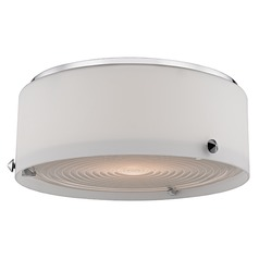 Blackwell LED 1 Light Flushmount Light Drum Shade - Polished Nickel