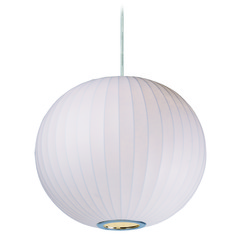 Maxim Lighting International Cocoon Polished Chrome Pendant Light with Globe Shade