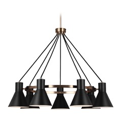 Sea Gull Lighting Towner Satin Bronze LED Chandelier