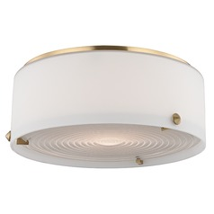 Blackwell LED 1 Light Flushmount Light Drum Shade - Satin Brass
