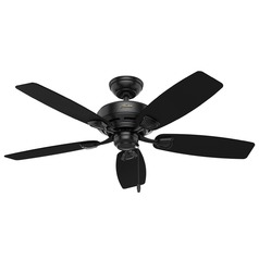 Hunter Fan Company Sea Wind Matte Black Ceiling Fan Without Light