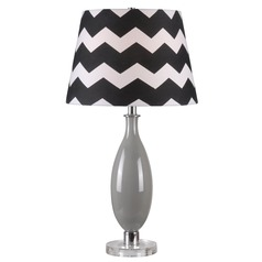 Kenroy Home Horizon Gray Table Lamp with Empire Shade