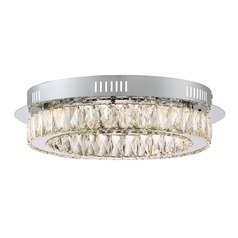 Quoizel Lighting Platinum Embrace Polished Chrome LED Flushmount Light
