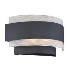 Lite Source Gaetano Black Sconce