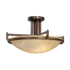 Design Classics Lighting Two-Light Semi-Flush Ceiling Light 2825-133