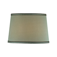 Green Drum Lamp Shade with Spider Assembly