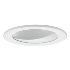 GU10 White Wall Washer LED Trim for 4-Inch Line and Low Voltage Recessed Cans