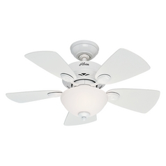 Hunter Fan Company Watson Snow White Ceiling Fan with Light