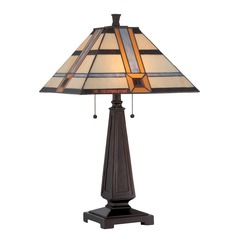 Lite Source Lighting Vienna Dark Bronze Table Lamp with Square Shade