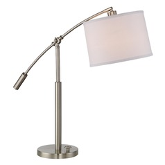 Quoizel Lighting Clift Brushed Nickel Table Lamp with Drum Shade