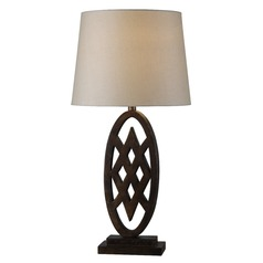 Kenroy Home Signet Golden Flecked Bronze Table Lamp with Empire Shade