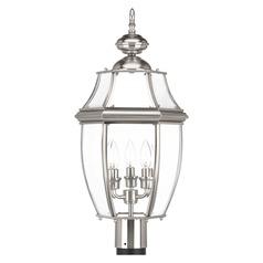 Progress Lighting New Haven Brushed Nickel Post Light