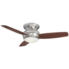 44-Inch Minka Aire Traditional Concept Pewter LED Ceiling Fan with Light