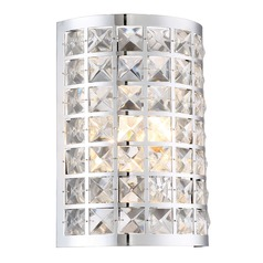 Lite Source Damond Chrome Sconce
