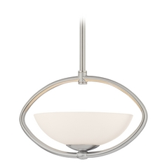 Single-Light Pendant with Oval Cutout