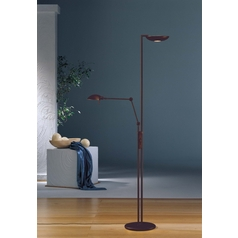 Holtkoetter Modern Torchiere Lamp in Hand-Brushed Old Bronze Finish