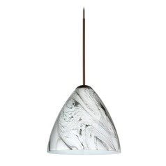 Besa Lighting Mia Bronze LED Mini-Pendant Light