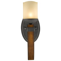 Golden Lighting Madera Black Iron Sconce