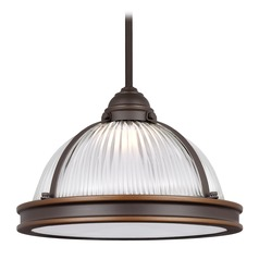 Sea Gull Pratt Street Prismatic Autumn Bronze LED Pendant Light