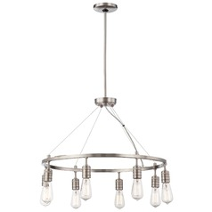 Downtown Edison Brushed Nickel Chandelier