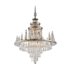 Corbett Lighting Illusion Silver Leaf Crystal Chandelier