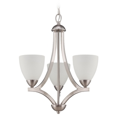 Jeremiah Lighting Hartford Satin Nickel Mini-Chandelier