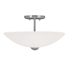Livex Lighting Somerset Brushed Nickel Semi-Flushmount Light