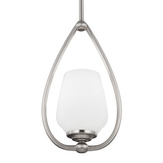 Feiss Vintner Satin Nickel Mini-Pendant Light